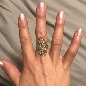 Stella and dot gold adjustable ring